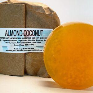 Almond-Coconut Bar Soap (organic & biodegradable) 110gr
