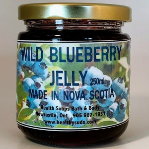 Wild Blueberry Jelly from Nova Scotia 250gr