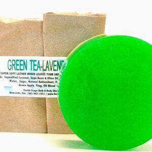 Lavender-Green Tea Bar Soap (organic & biodegradable) 110gr