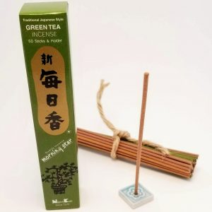 Green Tea Incense…50 sticks with holder