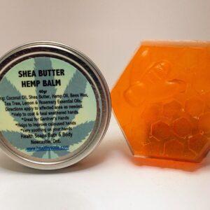 Hand Repair Kit with Hemp Balm Serum & Moisturizing Honey Bar Soap