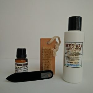 Nail Therapy Set-Glass Nail File with Lavender & Tea Tree enriched Vitamin A & Beta Carotene oil
