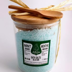 Mint Bath Salts in a Glass Jar 400gr