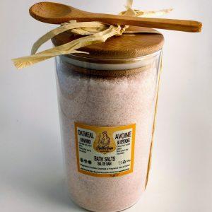 Oatmeal Bath Salts in a Glass Jar 700gr