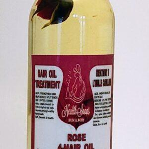 4 Oil Hair Treatment for Hair 60ml (Rose)