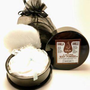 Vanilla Body Powder with Powder Puff 40gr (Talc-Free)