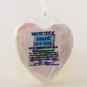 White Tea Ginger Bath Fizzie 200gr