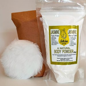 Jazzy JasmineBody Powder Refill with bonus powder puff 90gr (Talc-Free)