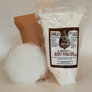 Vanilla Talc-Free Body Powder Refill with bonus powder puff 90gr (Talc-Free)