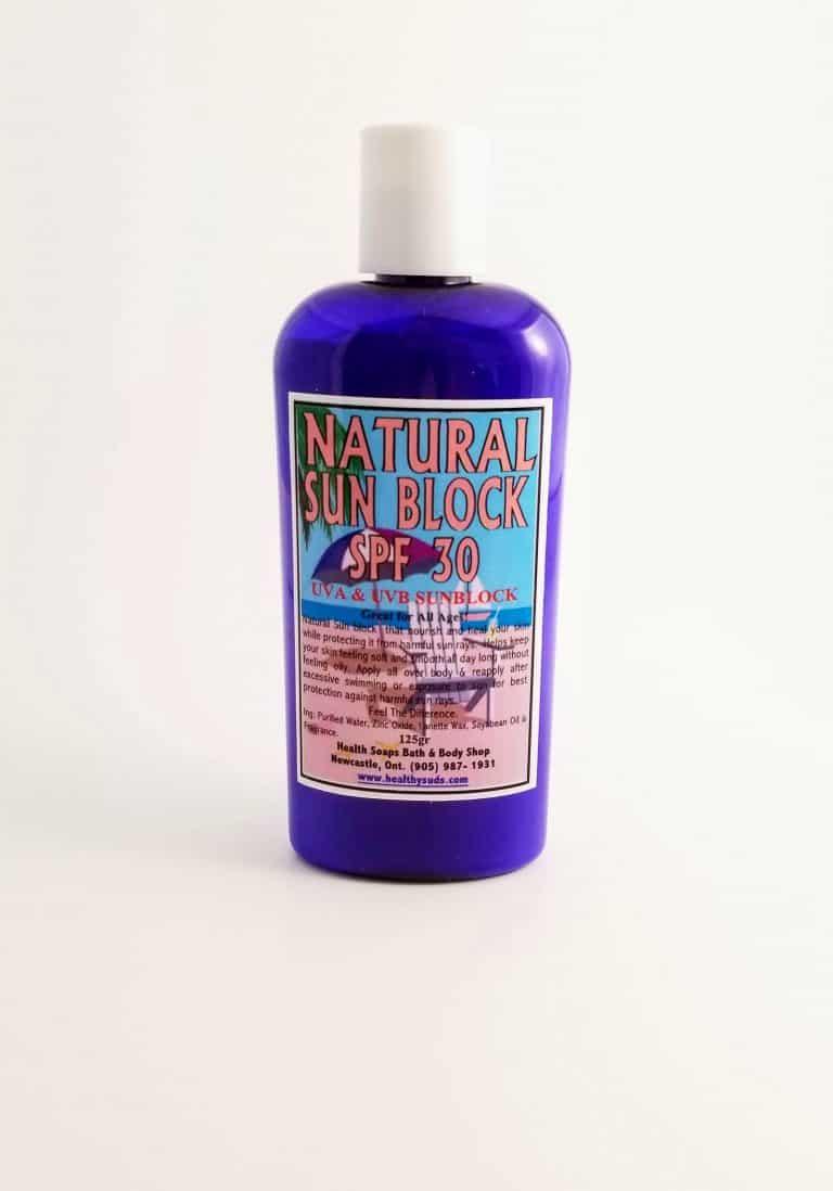 Natural SPF30 SunBlock  125gr….(UVA & UVB) Protection