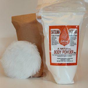Satsuma Body Powder Refill with bonus powder puff 90gr (Talc-Free)
