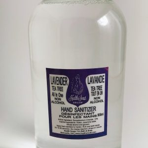Lavender Tea Tree Gentle on the Hands NON-Alcohol…use for counter tops (Used in Disinfectant Wipes) Hand Sanitizer for both Spray and Foam  Bottles 500ml REFILL
