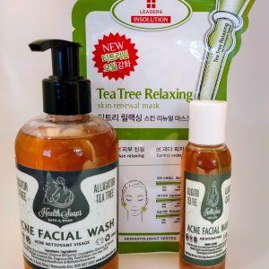 Tea Tree Facial Mask with Alligator Tea Tree Facial Wash