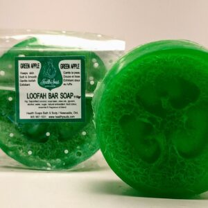 Green Apple Loofah Bar Soaps 110gr (organic & biodegradable)
